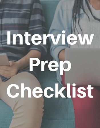 Interview Prep Checklist